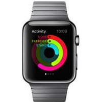 Urrem Apple Watch 42mm stållænke DARK