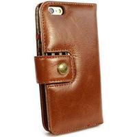 Alston Craig iPhone 6 / 6S Alston Craig Vintage Genuine Plånbok Läderfodral - Brun