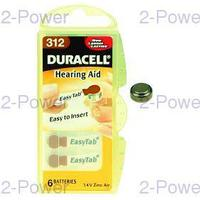 Duracell 1.4v Hörapparats Batteri 8 x 6 st (48 st) (Nr 312)