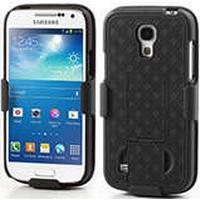 Skal till Galaxy S4 Mini / 2 i 1 Bältesclips & Stativ / Svart