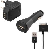 Deltaco USB Kit Bil+Vägg USB Laddare