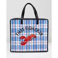Skinnydip That Fish Cray Embroidered Lobster Shoulder Bag