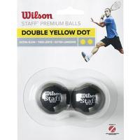 Squashbolde Wilson Staff Extra Slow Double Yellow Dot