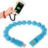 Armband Plastpärlor och Lightning Kabel, Blå