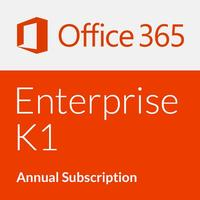 Microsoft Office 365 Enterprise K1 with Yammer - Annual subscription (1 Year)