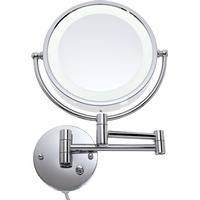 Loywe Kosmetikspejl til væg m. lys og infrarød sensor - 10 gange forstørrelse - Ø 21,5 cm.