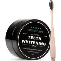 Tandblegning Whitening Tandblegning med aktivt kul + Bambus Tandbørste
