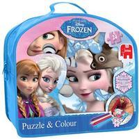 Jumbo Disney Frost Puzzle & Colour