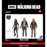 "Walking Dead The Walking Dead Hero 5"" Figure 3 Pack Deluxe Box Set Mcfarlane"