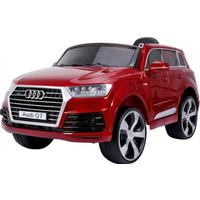 ToyandModelStore Audi Q7 Official Model 12V Electric Ride On Car With Parental Radio Control Red