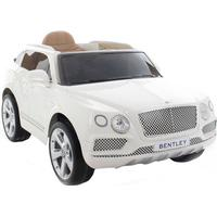 ToyandModelStore Bentley Bentayga 12V Electric Car White Suv Official Ride On Jeep With Parental Control