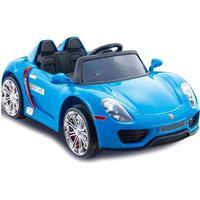 ToyandModelStore Porsche 918 Spyder Style 12V Battery Powered Kids Ride On Car Blue With Parental Control