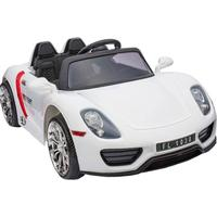 ToyandModelStore Porsche 918 Spyder Style 12V Battery Powered Kids Ride On Car White With Parental Control