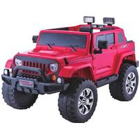 ToyandModelStore Jeep Rubicon Style Kids Ride On Toy Car 4Wd 24V Electric With Parental Control Red
