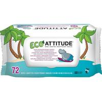 Attitude Klimatneutrala Våtservetter Baby, 72 st