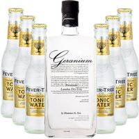 Geranium Gin + 6 stk. Fever-Tree Premium Indian Tonic Water