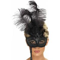 Smiffys Svart Barock Ögonmask - One size