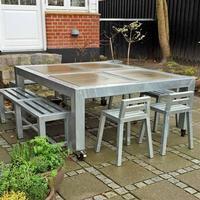 A2 Living Quadro galvat matbord med hjul, 2x2 , A2 Living
