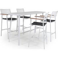 Brafab Olivet bargrupp Vit med grå dyna 4 barstolar & bord
