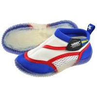 Swimpy Beach Shoes - White/Blue Size 24-25
