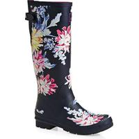 Joules Printed Wellies Navy Whitstable Floral