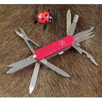 Rød Minichamp XL Victorinox foldekniv