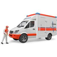 Bruder Mercedes Benz Ambulance Sprinter med Chauffør 02536
