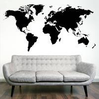 Verdenskort Wallsticker