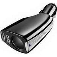 Cellular Line TRIPLEPOWER - Bilstrømsadapter - 3 output-stikforbindelser (USB, cigarettænder)
