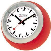 Mondaine SBB Globe Desk Clock - Red
