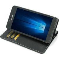 PDair Microsoft Lumia 950 PDair Deluxe Book Type Læder Taske - Sort