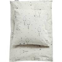 Organic Cotton Baby Or Junior Bedding Set - Pale Grey  Junior 100x140