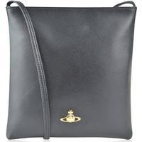 VIVIENNE WESTWOOD ACCESSORIES Orb Textured Crossbody Bag - Black -