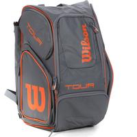 Wilson Tour V Backpack - Grå/Orange - unisex - Utrustning One Size