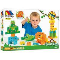 Molto Magic 100 blokke Zoo i September (legetøj, børnehaveklasse, konstruktioner)