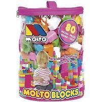 Molto blokerer Blosa 80 PiezasPink (legetøj, børnehaveklasse, konstruktioner)