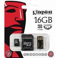 Kingston 16gb multi kit microsdhc, usb