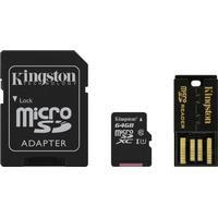 Kingston 64GB Multi Kit (Class10 microSD+SD adapter+USB reader) Androi