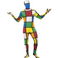 Smiffys Rubik's Cube Second Skin Costume