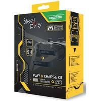 Steelplay Play & Charge Kit Twin Batteries - Laddningskabel för trådlös spelkontroll - Microsoft Xbox One