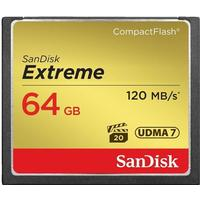 SanDisk Extreme Compact Flash 120MB/s 64GB