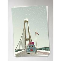 Vissevasse Driving Home For Christmas 10.5x15cm Plakater