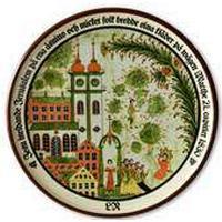 1983 Höganäs platte med bibelsk motiv