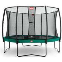 Berg trampolin med net - Champion - Ø 430 cm Optimal hoppeoplevelse - Inkl Deluxe sikkerhedsnet og Twinspringfjedre