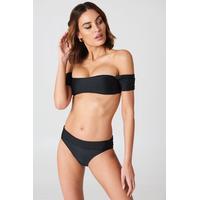 Boohoo Salamanca Bardot Bandeau Bikini Set - Bikini - Black