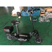 """STRADA EL scooter, foldbar. 48V 2000 WATT Brushless med aftagelig sæde +40KM/T Skivebremser 12"""" offroad hjul. Med Sort/Hvid farve og bagboks."""