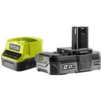 RYOBI ONE PLUS Batteri + batteriladdare RC18120-120 18 V 2 Ah