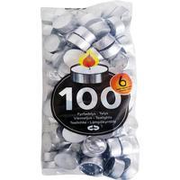 Fyrfadslys hvid 6 timers 100stk/ps