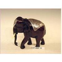 Elefant 16 cm med plaid