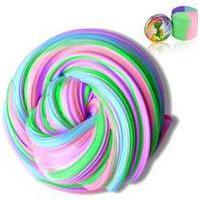 Multi-color fluffy slime - 4 färger i en stor burk 200g